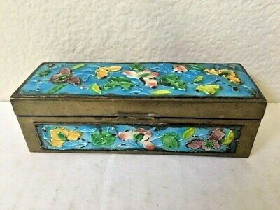 Asian Antiques, Metal Ware, Box's, Stamp Box, Enamel/Cloisonne, 1890-1920, China