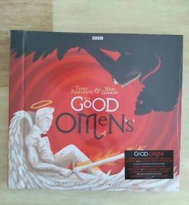 SIGNED Good Omens - Neil Gaiman Vinyl Audio Book Box Set - Limited to 500 Copies