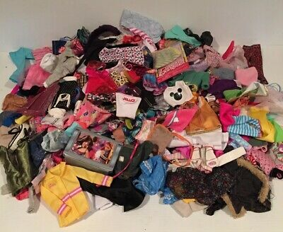 236 Vintage Barbie + CLOTHING Doll Accessories Clothes Outfits HUGE Lot