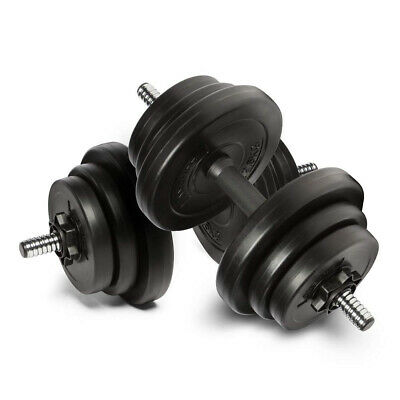 20KG Dumbbell Set Vinyl Dumbbells Weight Sets Gym Weights Fitness 4 Bicep Tricep