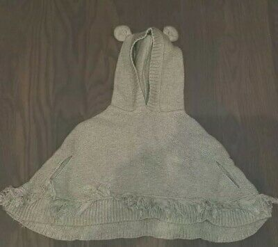Baby Gap Sweater Poncho Gray Hoodie Size 18-24 months