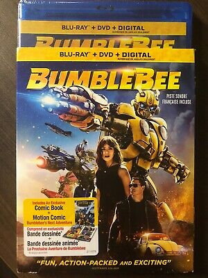 NEW Bumblebee Blu-Ray & DVD & Digital Copy w Slipcover Canada Bilingual SEALED