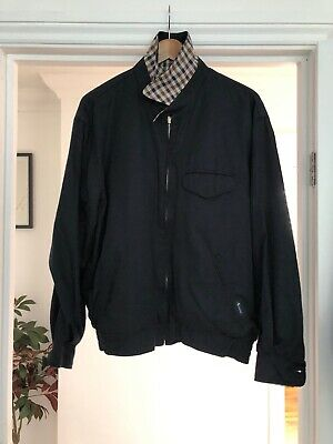 d9f1ca61c AQUASCUTUM NAVY HARRINGTON Jacket Sz M Reversible - $79.10 | PicClick