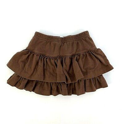 Hanna Andersson 90 Us Size 3T Brown Tiered Ruffle Skirt