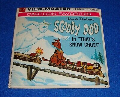Vintage Scooby Doo That's Snow Ghost (B553) View-Master 3 Reel PACKET SET