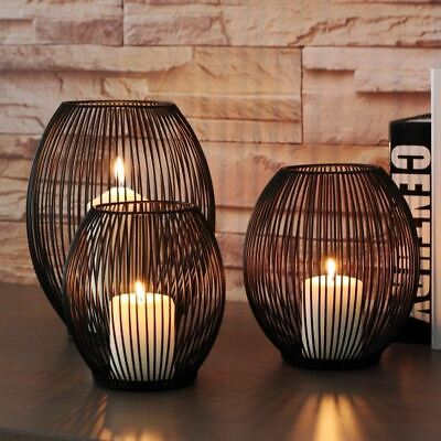 1 Pc Metal Hollow Out Candle Holder Articles Candlestick Hanging Lantern Home De