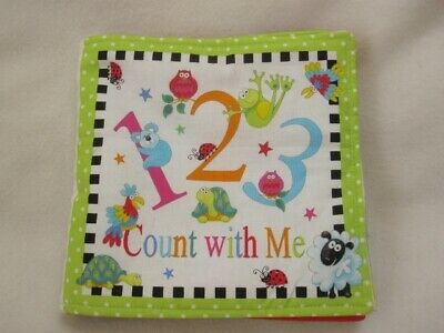 """Count With Me 123 Large 8"""" Soft Rag Cloth Baby Book"""