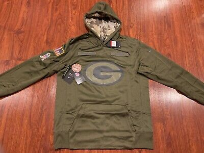 buy popular 2f920 a49bf GREEN BAY PACKERS Salute to Service Hoodie 2016 Nike STS XL ...