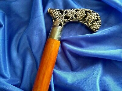 Brand New Brass Derby Filigree Wooden Walking Stick