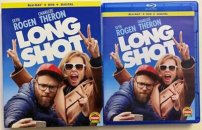 Long Shot Blu Ray Dvd 2 Disc Set + Slipcover Sleeve Comedy Charlize Theron Buyit