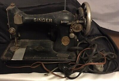 Antique 1937 Singer Sewing Machine With Pedal AE520188 For Parts or Restore!
