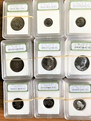 Old Coins Collection, 62 Coins, Silver, Proof 70, Mint State 70 Coins Lot #1