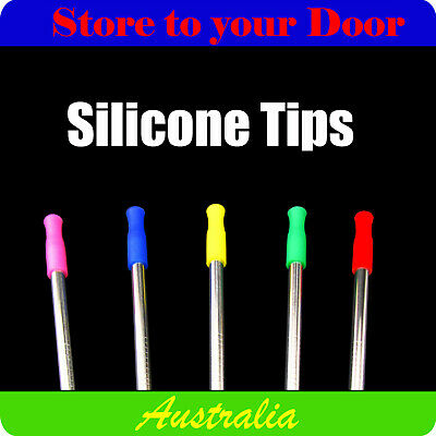 6mm Silicone Drinking Straw Tips - Protector for Reusable Metal Drinking Straws