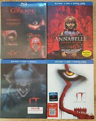 The Conjuring Universe 5x Movies + IT (2017) Blu-ray+DVD LENTICULAR SLIP COVERS