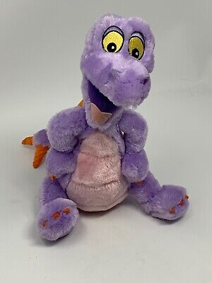 "Disney Parks Plush Figment Purple Dragon 9"" Stuffed Toy Disney World Disneyland"