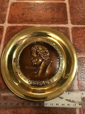 Beethoven Composer Signed Solid Brass Made In England Hang Plate FREE SHIPPING