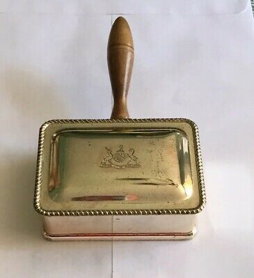 Vintage Fb Rogers Silver Plate Cigarette Butler Box & Wood Handle