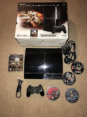 PLAYSTATION 2 PS2 with 500gb hard drive 2 controllers with 145 games