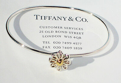 Tiffany & Co Paloma Picasso 18Ct 18K Yellow Gold Sterling Silver Daisy Bangle