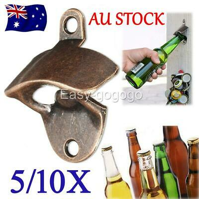 5/10PCS Rustic Style Cast Iron Wall Mounted Bottle Opener Cave Bar Beer Tool Top