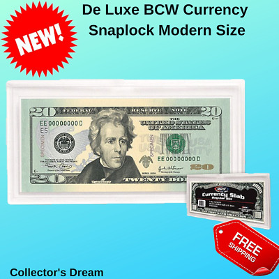 BCW Currency Snaplock Slab Holder Modern Collection Banknotes Bills Paper Money