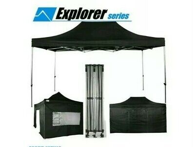 ^ Pop up Market stall Gazebo FRAME ONLY marque 3m x 3m , Rock Explorer 27:1