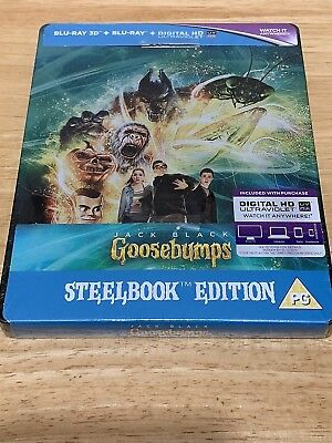 Goosebumps 3D 2D Digital Blu-Ray Steelbook Uk Limited Edition New & Sealed