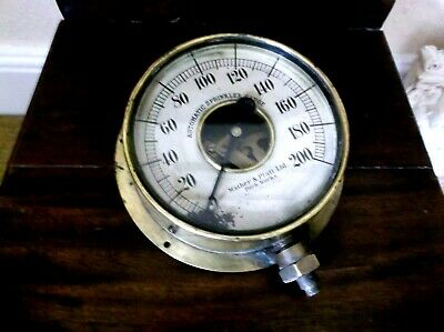 Rare Antique 19Th C Brass Automatic Sprinkler Gauge By Mather & Platt Manchester