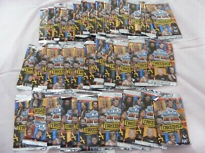 NEW WWE  *SLAM ATTAX - TAKEOVER*  -  40 SEALED PACKETS  =  320 CARDS - Topps