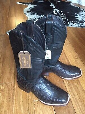 d1633a8f372 STETSON BIG HORN Mens Brown Alligator Cowboy Boots - $772.99 | PicClick
