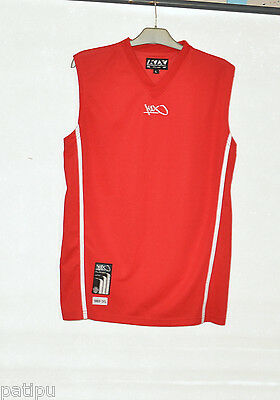 K1X T-shirt Basketball rot -weiß Gr.L Player unit no Trikot 100% Polyester