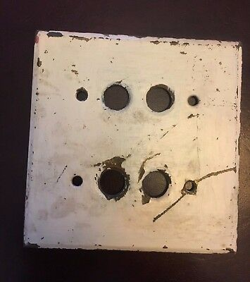 Antique brass push button switch plate GE