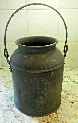 12.75 Inches Stone /& Beam Vintage Rustic Farmhouse Galvanized Metal Milk Jug Home Decor Planter Vase Grey