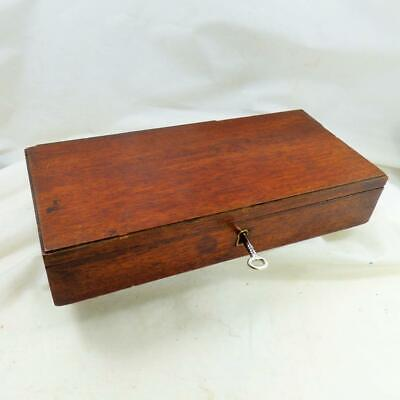 ANTIQUE WATERCOLOUR ARTISTS PAINTBOX  (empty) PAINTING /STATIONERY BOX