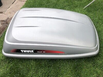 THULE POLAR 100 Roof Box Silver And Roof Bars - £110.00 ...