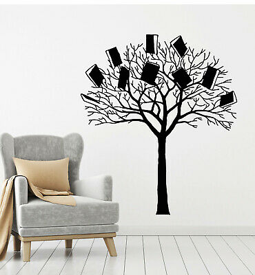 g1027 Vinyl Wall Decal Butterfly Open Book Reading Romantic Style Stickers