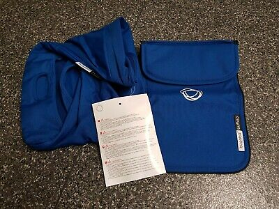 BRAND NEW Bugaboo Buffalo Royal Blue Extendable Hood/sun canopy Apron set 001