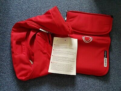 BRAND NEW Bugaboo Buffalo Red Extendable Hood/sun canopy Apron set RRP £95 004