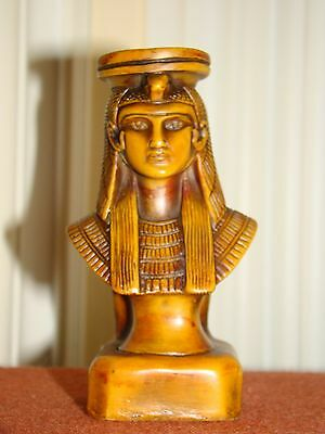 Old Vintage Collectible Resin Egyptian Pharaoh Figurine-Statue  Made In Egypt