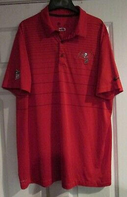 d3cdb2c8 TAMPA BAY BUCCANEERS Golf Polo Shirt Large NFL Reebok Embroidered ...