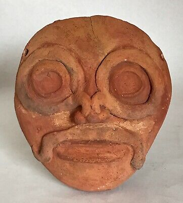 Pre-Columbian Terracotta Clay Pottery Mask