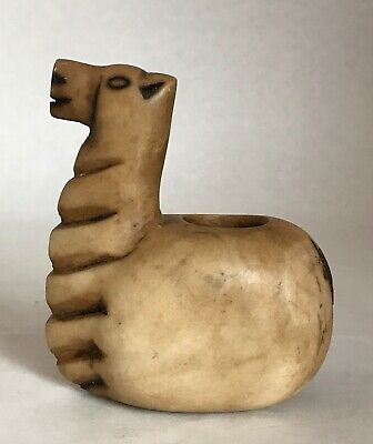 Pre-Columbian Votive Container Carved Stone Conopa Inca Animal Figure