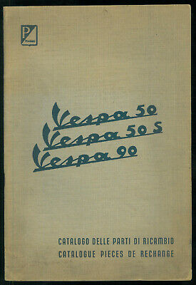 Catalogue Pieces PIAGGIO VESPA 50 50S 90 Fr / It 1964 Catalogo Parti di Ricambio