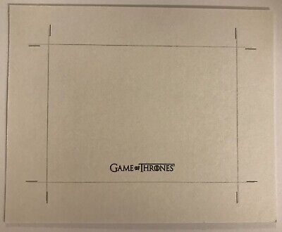 Rittenhouse Game Of Thrones Inflexions Blank Uncut Sketch Card RARE
