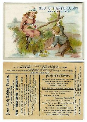 Syracuse NY GEORGE HANFORD Baking Powder Flavorings VICTORIAN Trade Card