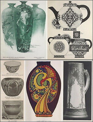 228 Issues Of Keramic Studio - Art Nouveau Ceramics Pottery Publication On Dvd