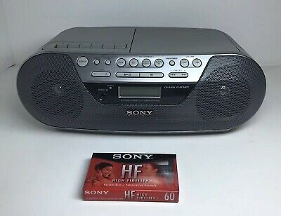Sony CD Player AM/FM Radio Tape Player Portable Boombox CFD-S05