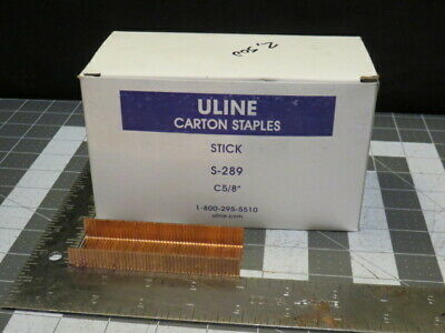 "Uline Manual Carton Box Staples C5/8"" Staples S-289 Box of 2,500 Staples"