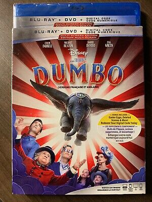 NEW Dumbo 2019 Live Action Blu-Ray & DVD w Slipcover Canada Bilingual SEALED