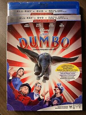 Dumbo 2019 Live Action Blu-Ray & DVD w Slipcover Canada Bilingual NO DC LOOK